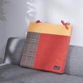 暖質絨心高反彈椅墊-橘-生活工場