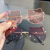 墨鏡兒童墨鏡時尚個性男女孩可愛貓咪太陽鏡防紫外線寶寶眼鏡拍照造型 雲朵走走