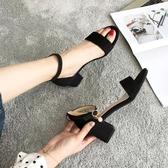 涼鞋女仙女風高跟鞋女粗跟女鞋