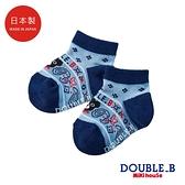 DOUBLE_B 日本製 變形蟲針織男童襪(藏藍)