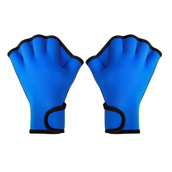 [2美國直購] TAGVO 游泳蹼狀手套 Aquatic Gloves for Helping Upper Body Resistance 藍 S/M/L
