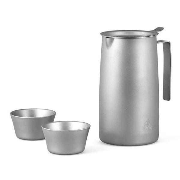 【狐狸跑跑】火楓 般若BoRe泡茶器 FMP-T320 鈦茶具 鈦壺 輕量化濾茶一壺兩杯