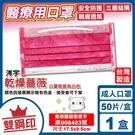 (雙鋼印) 涔宇 撞色系列 成人醫用口罩 醫療口罩 (乾燥薔薇) 50入/盒 (台灣製造 CNS14774) 專品藥局