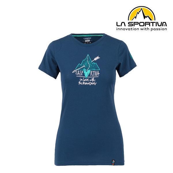 【義大利 LA SPORTIVA】Alakay T-Shirt 透氣短袖上衣 女款 藍色 #O02618618