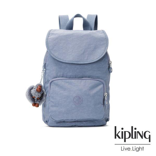 (時時樂)Kipling素面後背包(大)(紫羅蘭灰/深紫)