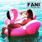 ◇方妮FaNi◇歐美火紅【火鶴游泳圈飄浮床】火烈鳥水上充氣泳圈度假海灘沙灘充氣泳池比基尼