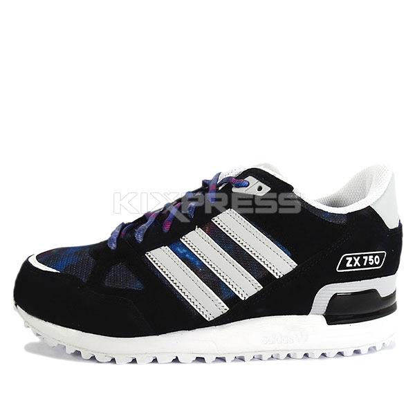 Adidas Original ZX 750 [AQ3184] 男鞋 休閒 舒適 黑 灰 愛迪達
