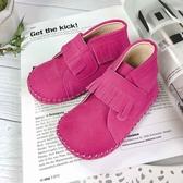 Swan天鵝童鞋-流蘇麂皮學步寶寶短靴1593-桃