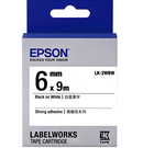 LK-2WBW EPSON 標籤帶 (白底黑字/6mm) C53S652405