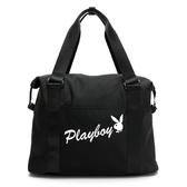 PLAYBOY- 旅行包 率性元素系列- 黑色