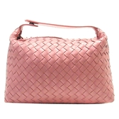 BOTTEGA VENETA 寶緹嘉 珊瑚粉色編織羊皮手提包 萬用包 【BRAND OFF】