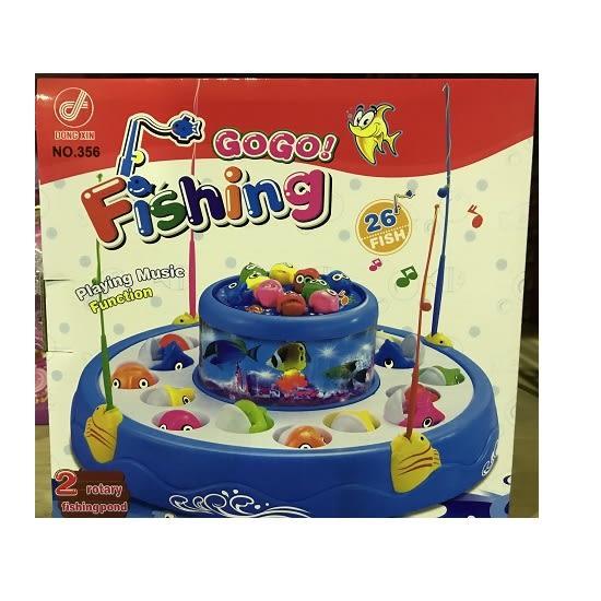 兒童玩具 雙層360度旋轉聲光音樂釣魚盤 釣魚機