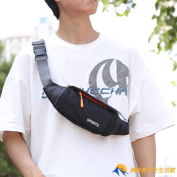 多功能腰包男士帆布運動跑步手機腰帶包