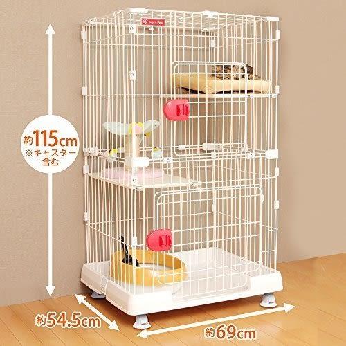 『寵喵樂旗艦店』日本IRIS 室內雙層貓籠 PMCC-115