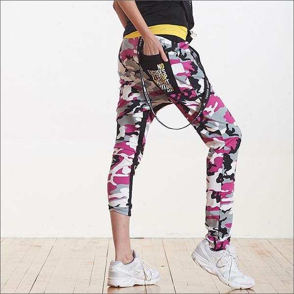 個性造型迷彩嘻哈褲TA697 - 百貨專櫃品牌 TOUCH AERO 瑜珈服有氧服韻律服