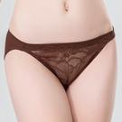 思薇爾-暮夏系列M-XL蕾絲低腰三角內褲(粟褐色)