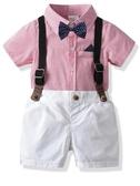 寶寶周歲禮服男夏畢業兒童演出服生日小西裝西服花童男童西裝套裝 小宅女