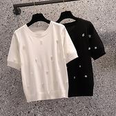 大碼針織衫寬松顯瘦冰絲針織衫上衣 993 3F140 L-4XL 胖妹衣櫥