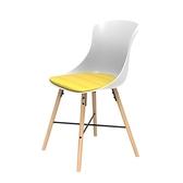 組 - 特力屋萊特 塑鋼椅 櫸木腳架30mm/白椅背/黃座墊