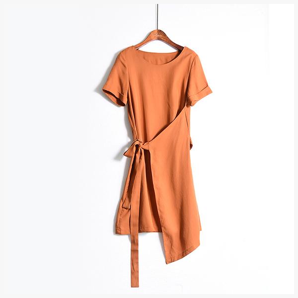 [超豐國際]Z 充滿設計感的 銅氨絲 連衣裙 706Q006