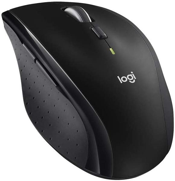 【日本代購】Logi 羅技雷射無線滑鼠 M705 超省電 拇指按鈕+高速飛梭滾輪-Unifying (日版 黑色)
