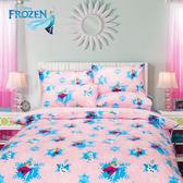 冰雪奇緣 夢幻魔法 粉 床包冬夏兩用被 單人三件組 台灣製