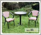 {{ 海中天休閒傢俱廣場 }} G-52 戶外時尚 編藤桌椅系列 42-5 塑木圓桌椅組(1桌2椅)