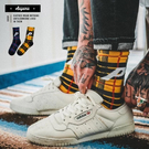襪子 格紋 P 復古中/長筒襪 搭配款 帥的 街頭 街舞 潮流 文青 長襪 襪子【KP813】