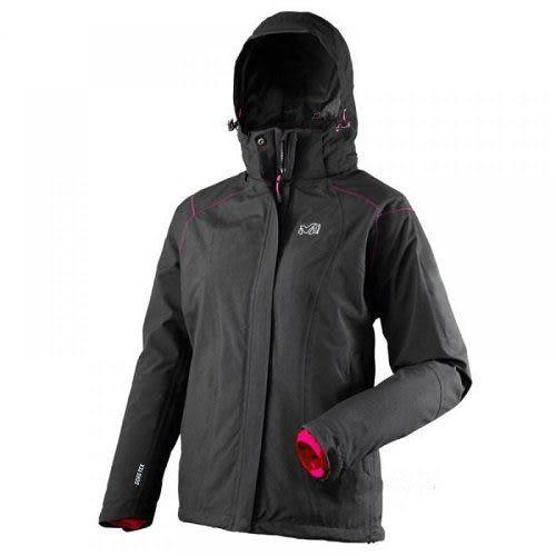 【山水網路商城】法國 MILLET MIV5062 STORM DOWN GORE-TEX 兩件式保暖外套(內裡羽絨) 女 黑色
