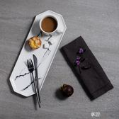 北歐風陶瓷盤西餐盤子大理石紋西點盤沙拉盤美食搭配文藝范 享購