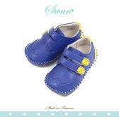 Swan天鵝童鞋-英倫布洛克雕花學布鞋1579-藍