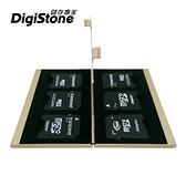 【85折+免運】DigiStone SD 記憶卡 收納盒 超薄型Slim鋁合金 6片裝雙層 SD記憶卡收納盒(3SD+3SD)香檳金X1