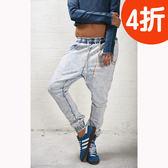 OneTeaspoon 運動風牛仔長褲破褲 TRACKIES  - 女(藍)