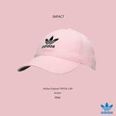 IMPACT Adidas Originals Trefoil Cap LOGO 粉紅 黑 老帽 棒球帽 灣沿帽 三葉草 情侶 男女可戴 BH3665