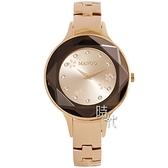【台南 時代鐘錶 MANGO】西班牙時尚 立體切割鏡面 晶鑽 花紋鋼錶帶女錶 MA6740L-RG 玫瑰金 35mm