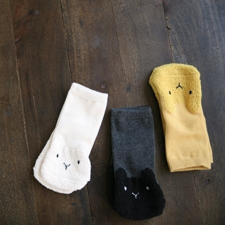 韓國童襪 MINI DRESSING 兔兔襪襪三件組