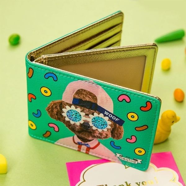 韓版實拍動物土豪雙層卡片夾名片夾證件夾女士女用信用卡夾悠遊卡夾-共4色-B290078-FuFu