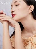 卡蒂羅開口手鐲女純銀細款時尚小眾設計星月韓版簡約個性送女友 ciyo黛雅