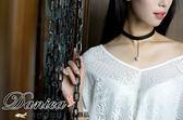 項鍊 韓國氣質甜美百搭寬版皮質珍珠水鑽頸項鍊2 色S2482  價Danica 韓系飾品韓國連線