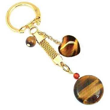 虎眼鑰匙圈 -圓與心型鑰匙圈