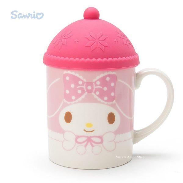 日本限定 美樂蒂 針織帽造型杯蓋 馬克杯組
