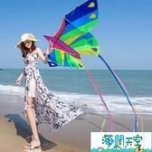 風箏 濰坊微風水晶蝴蝶2021新款風箏兒童微風易飛成人大型高檔大人專用 【海闊天空】
