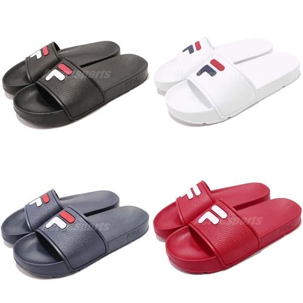 FILA 拖鞋 S316S 紅 藍 黑 白 復古 涼拖鞋 韓系 情侶鞋 任選 經典LOGO 男鞋 女鞋【PUMP306】