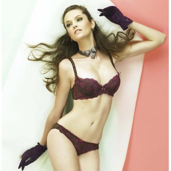 Chasney Beauty-sogno優雅名伶B-D蕾絲內衣(深棕紫)