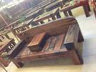 【大熊傢俱】 老船木 休閒椅 長凳 靠背椅 雙人椅 原木椅 實木椅 扶手椅 原生態 戶外椅