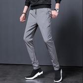 長褲 夏季薄款褲子 男韓版潮流褲子 修身休閒褲 鬆緊褲