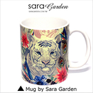 (24H) 客製 質感 彩繪 馬克杯 Mug 水彩 羽毛 白虎 咖啡杯 陶瓷杯 杯子 Sara Garden 品牌手作【M0320006】
