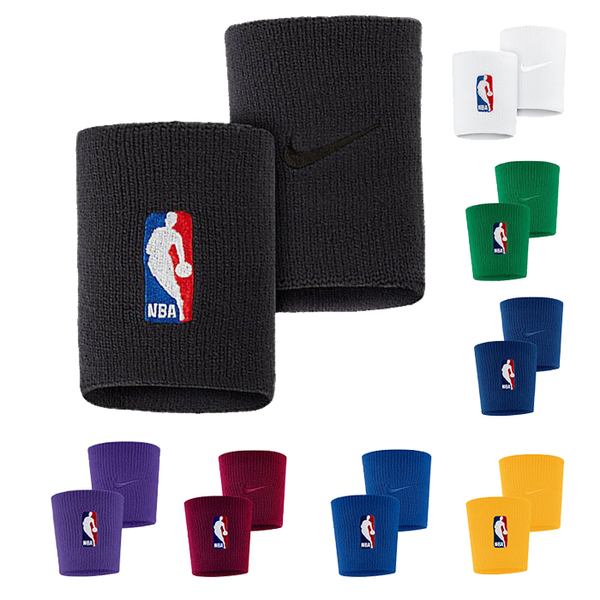 NIKE NBA 腕帶 籃球護腕 吸濕排汗 DRI-FIT材質 雙入裝 NKN03【樂買網】