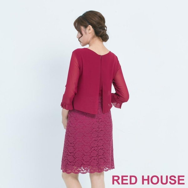 RED HOUSE-蕾赫斯-波浪蕾絲洋裝(共2色)
