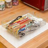 304不銹鋼筷子盒筷子架廚房餐具收納架筷勺孔籠家用消毒柜瀝水籠【七夕節88折】